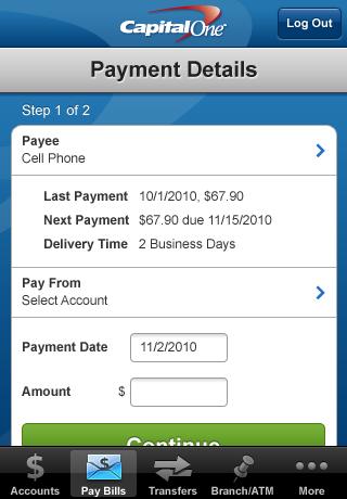 Capital One Mobile Banking screenshot 4