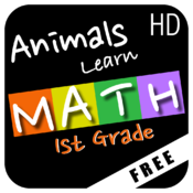 Animals Learn Mathematics - First Grade - Free icon
