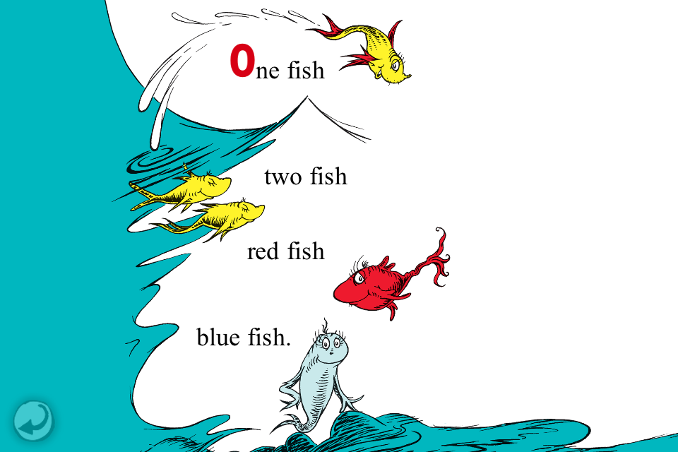 Dr seuss one fish two fish red fish blue fish review for Red fish blue fish dr seuss