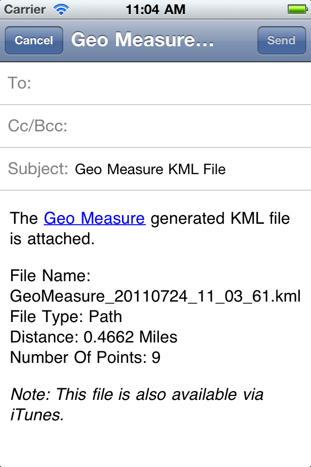 Geo Measure – Map Area / Distance Measurement Screenshot