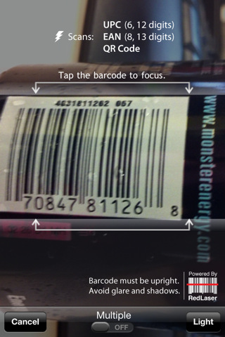 RedLaser Barcode Scanner and QR Code Reader