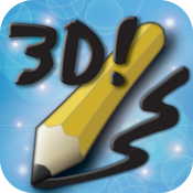 Draw 3D! free -- Paint, draw, sketch, or doodle in 3D. No glasses required! icon