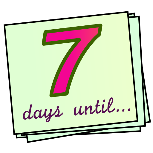 7 days until... Countdown!