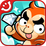 Escape The Ape - Games - Line Drawing - Vertical Scroll Jumping - By Com2uS Inc