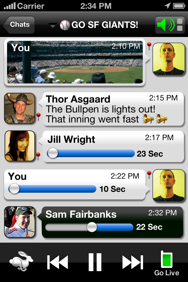 Voxer Walkie-Talkie PTT Screenshot
