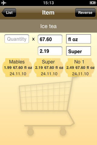 Economy Shopping - Shopping List