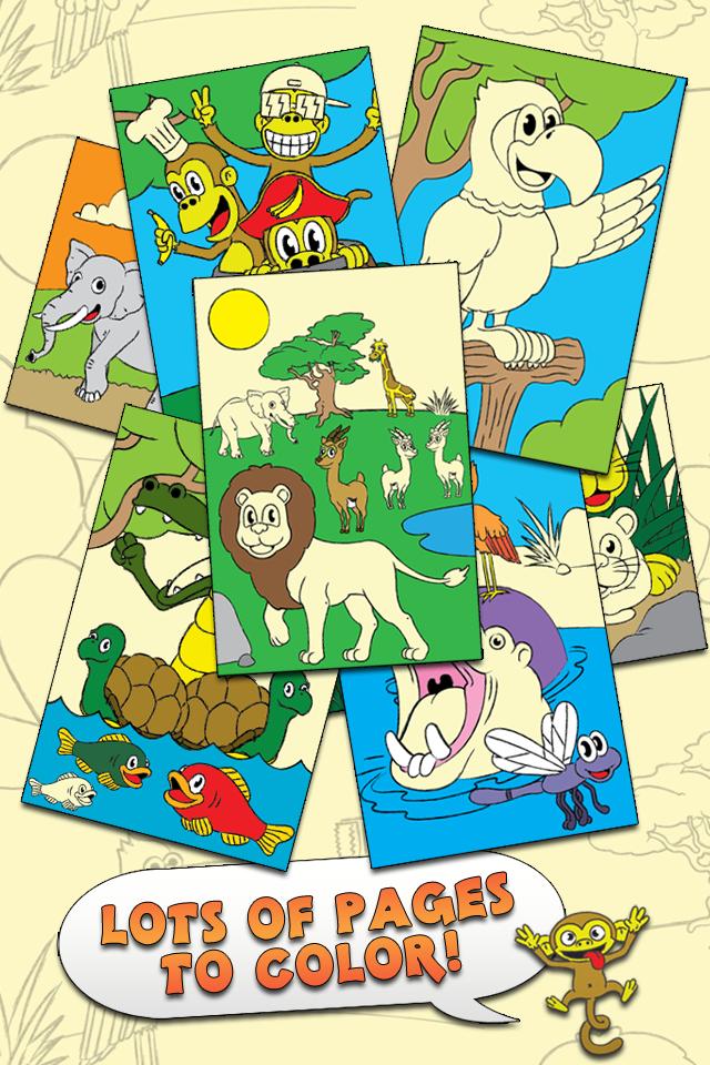 对于学龄前孩子和家庭旗舰版,着色动物园