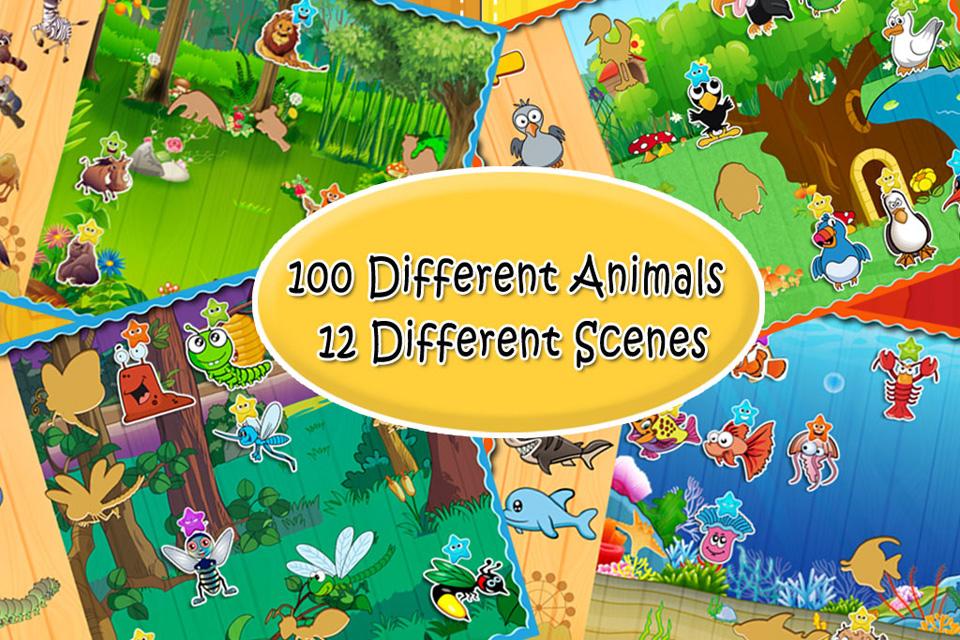 观图听音学名称的方式认识各种动物,同时还能学到一些汉字,单词和日语