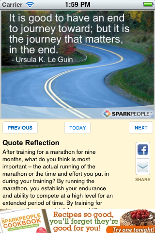 More apps related Inspirational Quote of the Day by SparkPeople