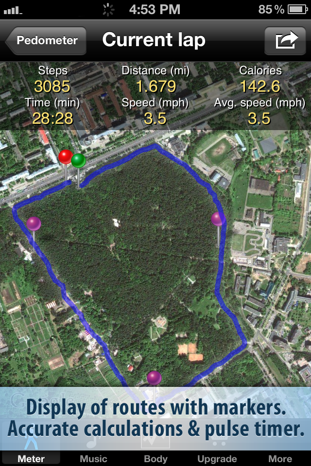 Pedometer FREE screenshot 2