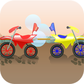 Dirt Bike Comparing Fractions icon