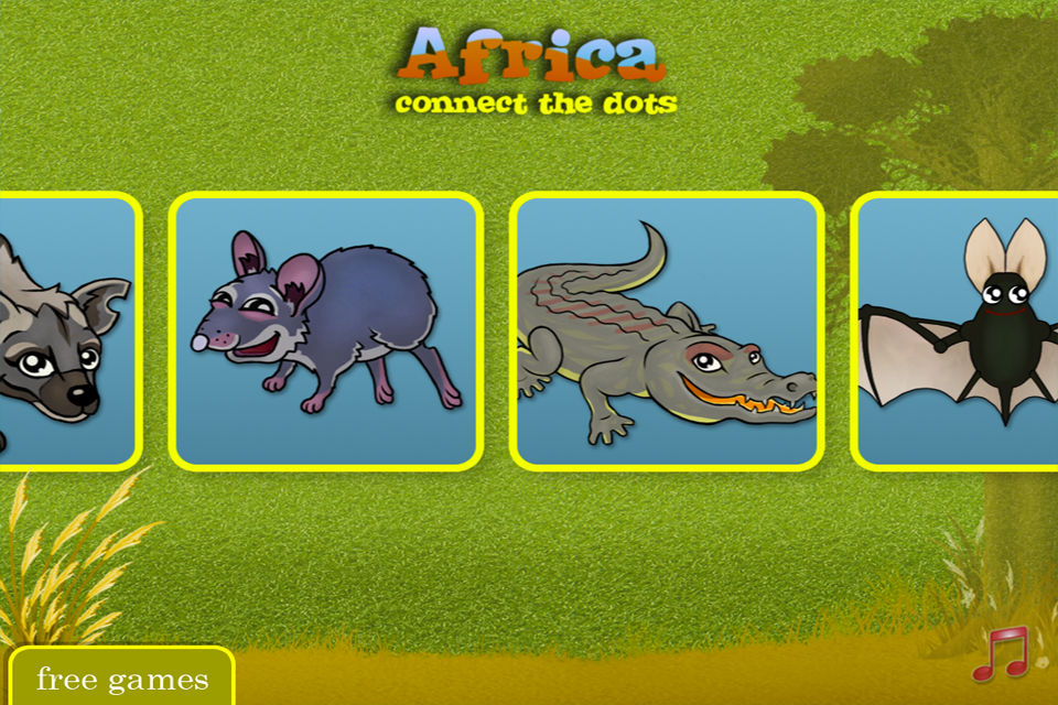 Africa – Connect the dots for kids Screenshot