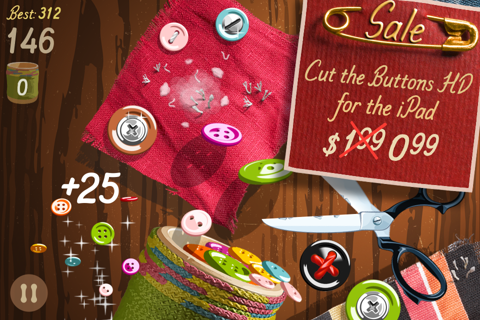Free Cut the Buttons iPhone Game