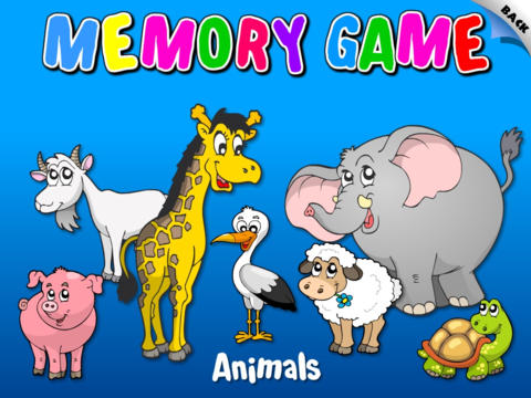 Abby - Animals - Memory Games For Kids HD Free screenshot 1