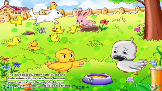 Ugly Duckling - bedtime fairy tale Interactive Book iBigToy