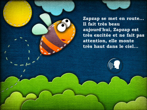 My first french interactive book: Zapzap the bee iPad Screenshot 5
