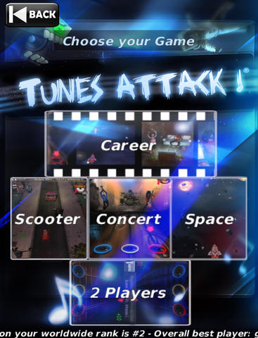 Tunes Attack Lite for iPad