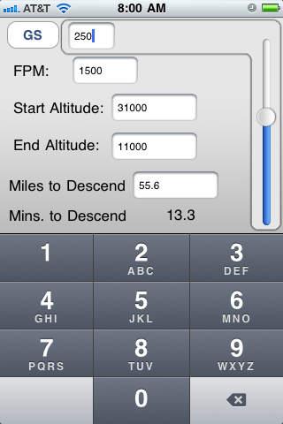 Descent Calc iPhone Screenshot 2