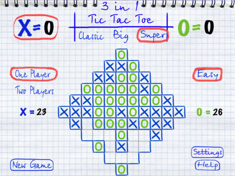 Tic Tac Toe 3in1 HD