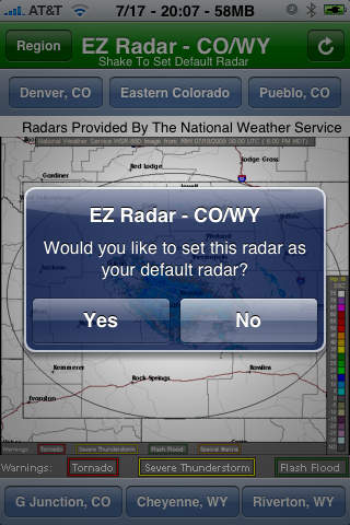 EZ Radar - CO/WY screenshot 2