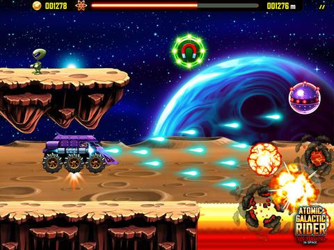 Atomic Galactic Rider - Van Pershing in Space Screenshot