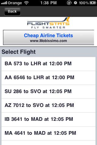 Aeroporto Malpensa Travel App iPhone Screenshot 4