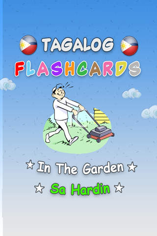 Flash Cards Tagalog - In The Garden