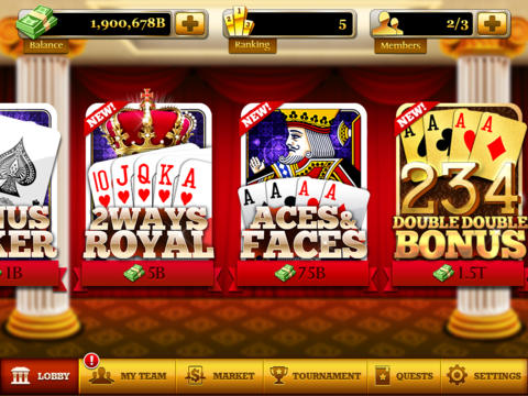 Video Poker: World Tournament! screenshot