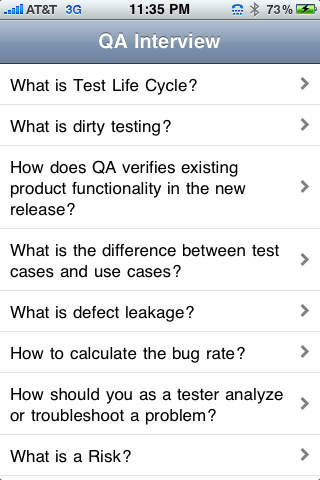 QA Tester Interview iPhone Screenshot 1