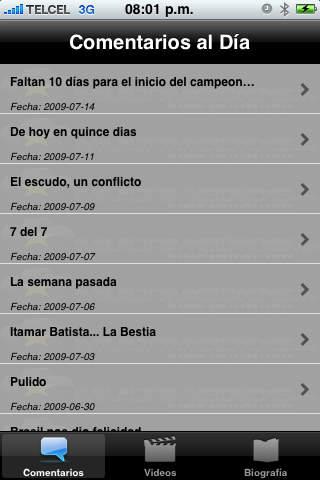 Futbol al Día iPhone Screenshot 4