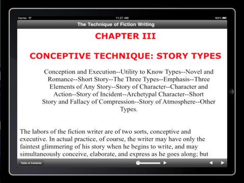 The Technique of Fiction Writing iPad Screenshot 1