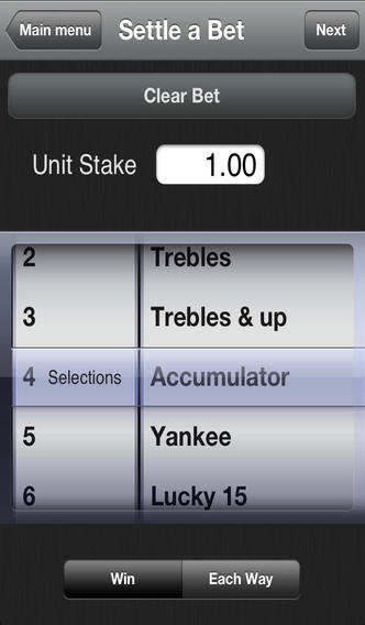 Bet Settler iPhone Screenshot 2