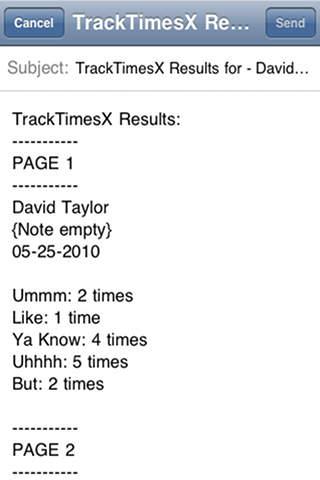 Track Times X List iPhone Screenshot 3