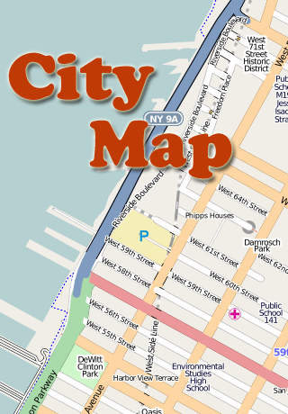 Key West City Map with Guides and POI