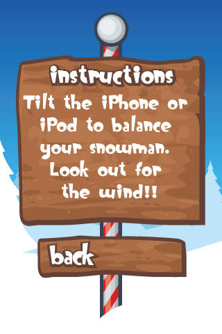 Steady Snowman FREE - Cute Balance Game iPhone Screenshot 2