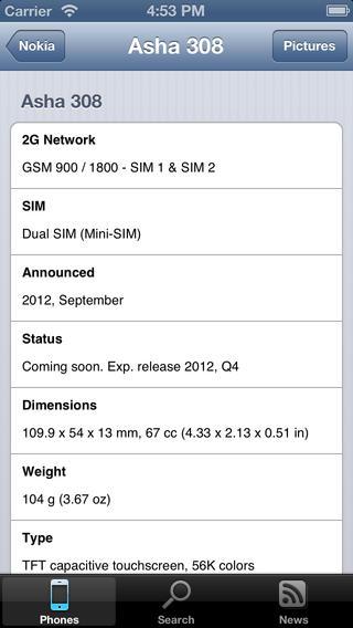GSMWiki iPhone Screenshot 3