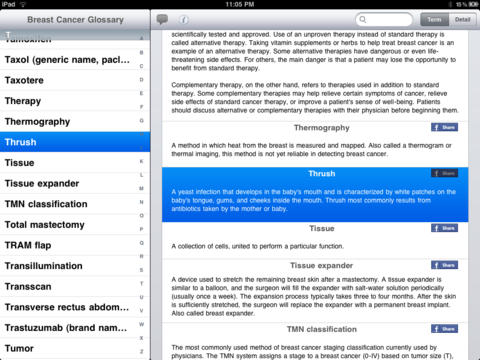Breast Cancer Glossary iPad Screenshot 5