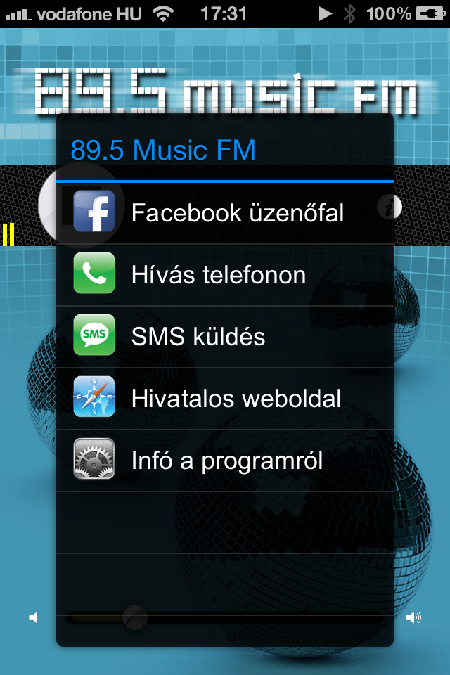 Image of 89.5 MusicFM for iPhone