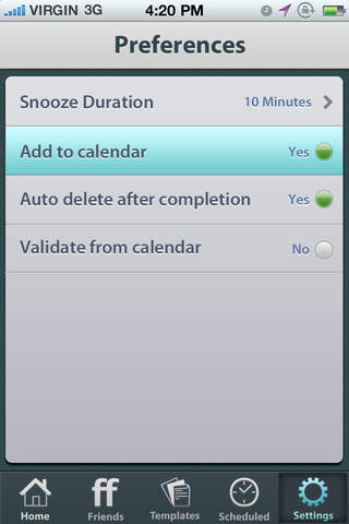 Future Scheduler Screenshot