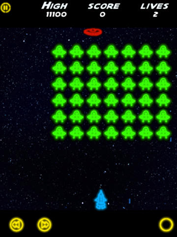 Neon Invaders HD