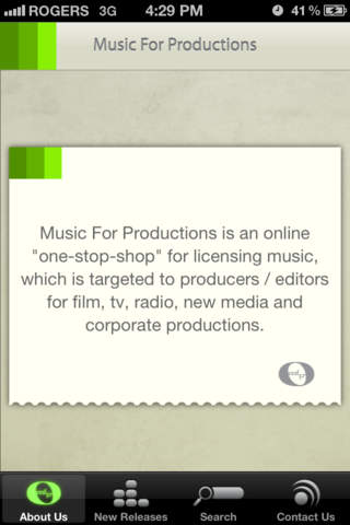Music For Productions iPhone Screenshot 2