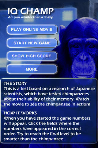 IQ Champ - Are you smarter than a chimp SALE