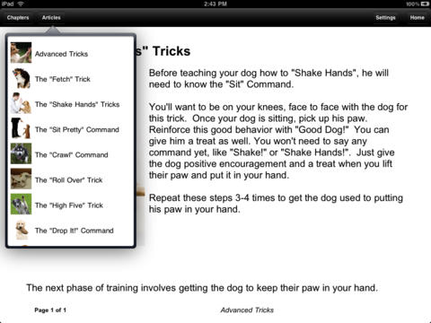 Puppy & Dog Trainer iPad Screenshot 3