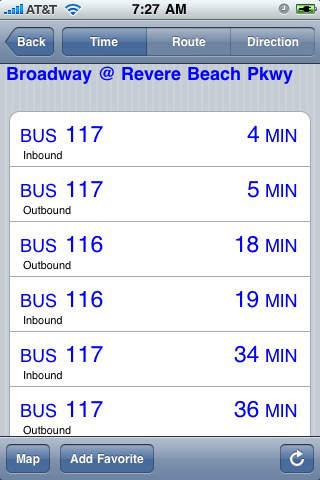 myTransit - Boston iPhone Screenshot 1