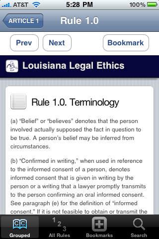 Louisiana Legal Ethics by Dane Ciolino iPhone Screenshot 1