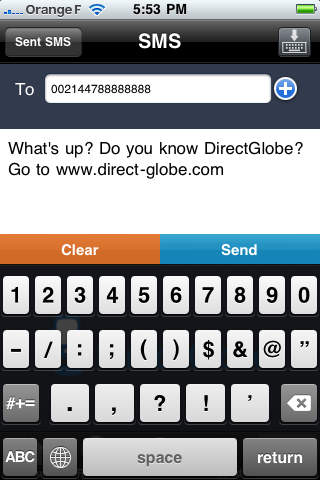 DirectGlobe iPhone Screenshot 2
