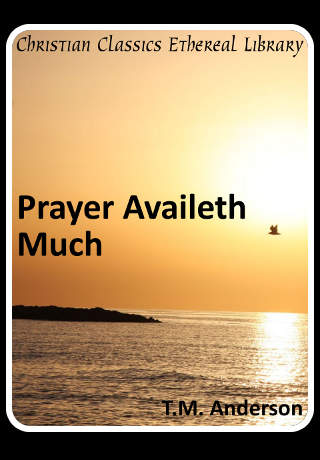 Prayer Availeth Much by T. M. Anderson