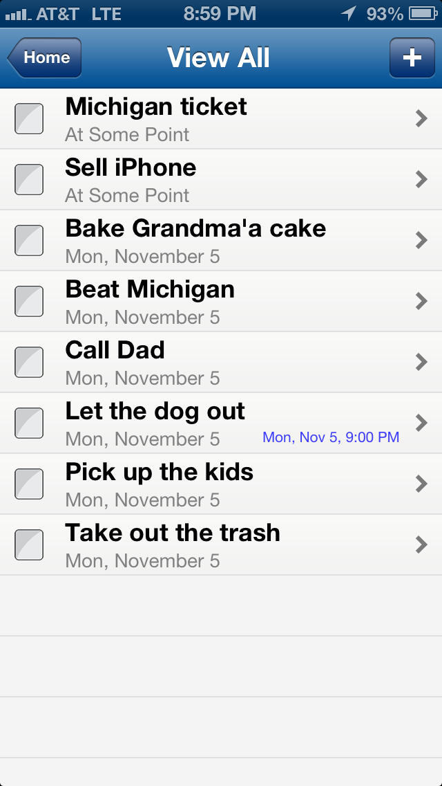 SeizeTheDay - To-Do List screenshot