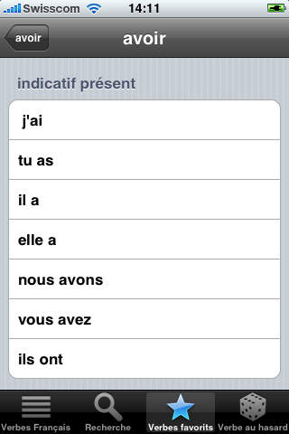 French Verbs iPhone Screenshot 5