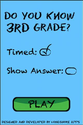 Do You Know 3rd Grade